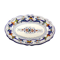 LARGE OVAL SCALLOPED PLATTER photo
