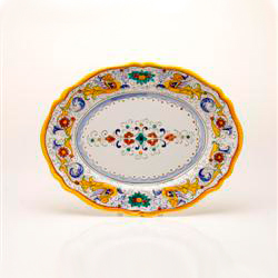 SMALL OVAL SCALLOPED PLATTER photo
