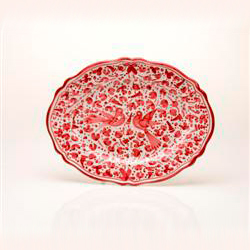 SMALL OVAL SCALLOPED PLATTER