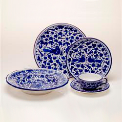 Blue Arabesco & Deruta Italian Dinnerware at la Terrine