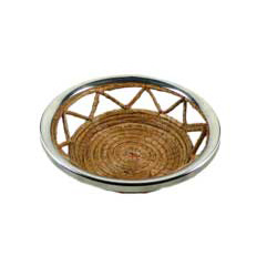 NICKEL TRIMMED BREAD BASKET photo