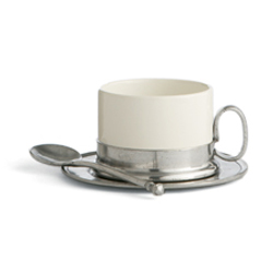 CAFFE CAPPUCCINO CUP, SAUCER, SPN SET photo