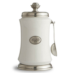 COFFEE CANISTER W/SPOON photo