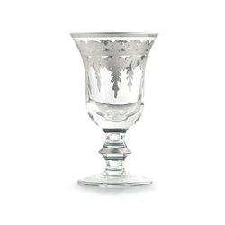 Vetro Silver Water/Wine Glass, 4pk