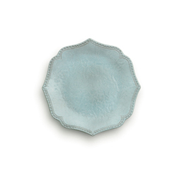 Merletto Aqua Scalloped Salad Plate