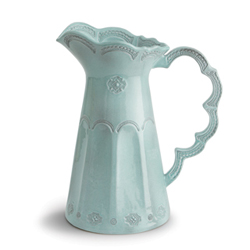 Merletto Aqua Scalloped Pitcher