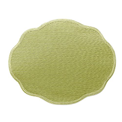 STEEL OVAL SCALLOP PLACEMAT
