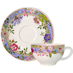 BREAKFAST CUPS & SAUCERS  SET OF 2