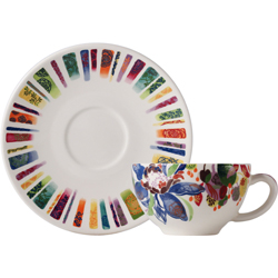 BREAKFAST CUPS & SAUCERS, BOXED SET OF 2