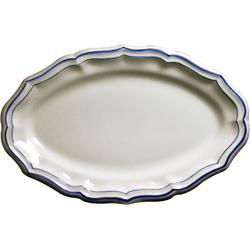 FILETS BLEU OVAL PLATTER