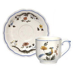 OISEAUX DE PARADIS  ESPRESSO CUPS & SAUCERS, BOXED SET OF 6
