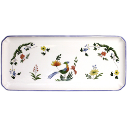 OISEAUX DE PARADIS  OBLONG SERVING TRAY
