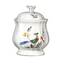 OISEAUX DE PARADIS  COVERED SUGAR BOWL