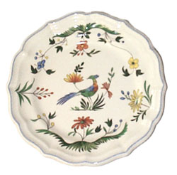 OISEAUX DE PARADIS  SALAD/CAKE PLATES, BOXED SET OF 6