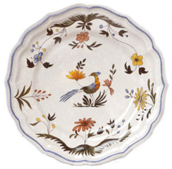 OISEAUX DE PARADIS  DINNER PLATES, BOXED SET OF 6