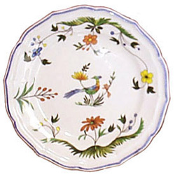 OISEAUX DE PARADIS  CANAPE PLATES, BOXED SET OF 6