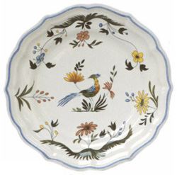 OISEAUX DE PARADIS  DESSERT PLATES, BOXED SET OF 6