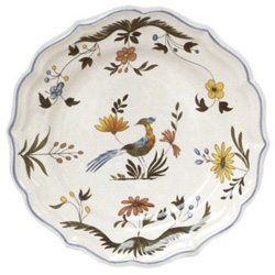 OISEAUX DE PARADIS  LUNCHEON PLATES,  BOXED SET OF 6