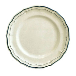 FILETS BLEU DINNER PLATES, BOXED SET OF 6