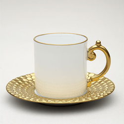 AEGEAN 24KT GOLD ESPRESSO CUP AND SAUCER photo