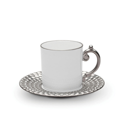 AEGEAN PLATINUM ESPRESSO CUP AND SAUCER photo