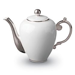 AEGEAN PLATINUM TEA/COFFEE POT photo