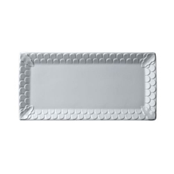 AEGEAN WHITE RECTANGULAR PLATTER 15.5