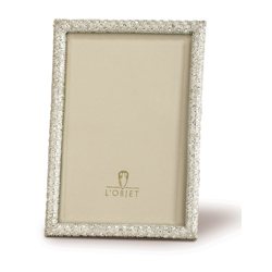 WHITE CRYSTALS ON RECTANGULAR PLATINUM FRAME - 2X3 photo
