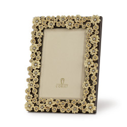 Gold Plated Pearl Flowers w/ Swarovski Crystals - 5x7