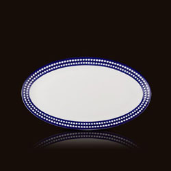 PERLEE BLEU OVAL PLATTER-SMALL photo