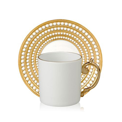 PERLEE GOLD ESPRESSO CUP & SAUCER photo