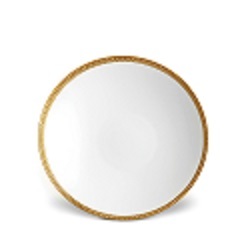 SOIE TRESSEE GOLD SOUP PLATE photo