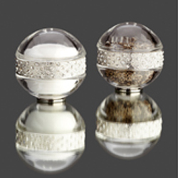 CRYSTAL S&P SHAKERS WITH WHITE SWAROVSKI CRYSTALS ON PLATINUM BAND photo