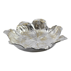 Gilded Floral Serving Bowl