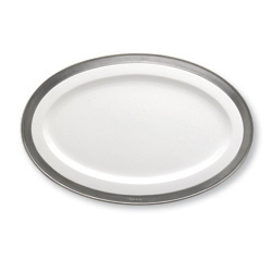 CONVIVIO OVAL SERVING PLATTER, WHITE photo