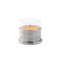 TEA LIGHT CANDLE HOLDER W/GLASS