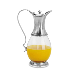 GLASS PITCHER W/LID