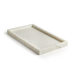 WHITE MARBLE TRAY - L photo