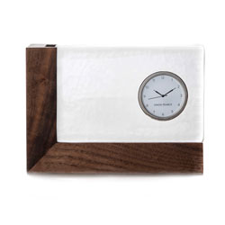 Ludlow Clock with Wood Base photo