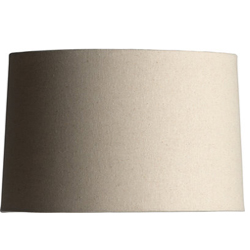 Linen Barrel Shade - Natural - 15 Inch photo