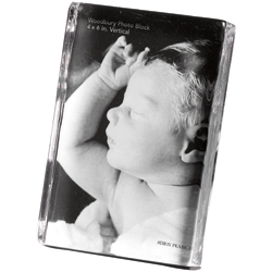 WOODBURY SQUARE VERTICAL PHOTO BLOCK GIFT SET - 6 x 4 photo