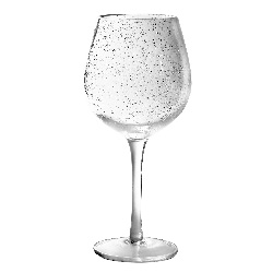 CLEAR BUBBLE WINE GLASS photo