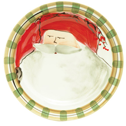 OLD ST. NICK DINNER PLATE - RED photo