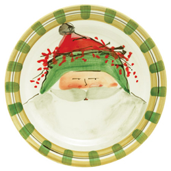 OLD ST. NICK DINNER PLATE - GREEN photo
