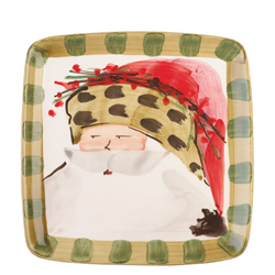 Old St. Nick Square Salad Plate - Animal