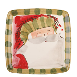 Old St. Nick Square Salad Plate - Striped