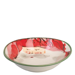 Old St. Nick Oval Bowl - Red