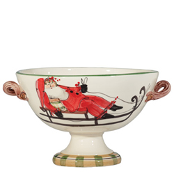 Old St. Nick Footed Bowl