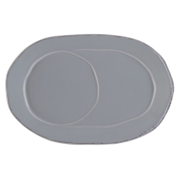 Lastra Gray Oval Tray