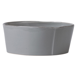 Lastra Gray Large Serving Bowl